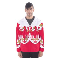 Flag of South Tyrol Hooded Wind Breaker (Men)