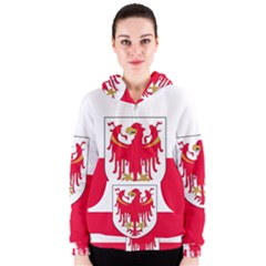 Flag of South Tyrol Women s Zipper Hoodie