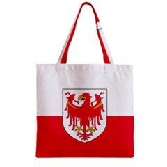 Flag of South Tyrol Zipper Grocery Tote Bag