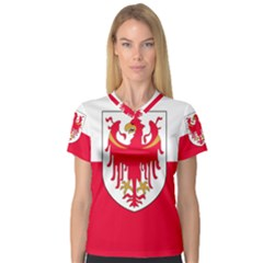 Flag of South Tyrol Women s V-Neck Sport Mesh Tee