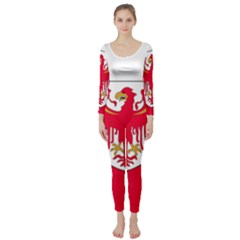 Flag of South Tyrol Long Sleeve Catsuit