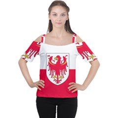 Flag of South Tyrol Women s Cutout Shoulder Tee