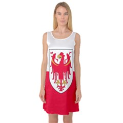 Flag of South Tyrol Sleeveless Satin Nightdress