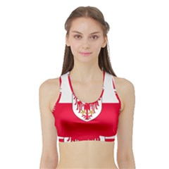 Flag of South Tyrol Sports Bra with Border