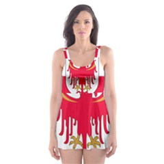 Flag of South Tyrol Skater Dress Swimsuit