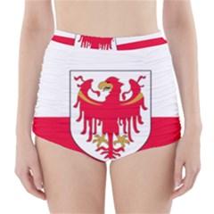 Flag of South Tyrol High-Waisted Bikini Bottoms