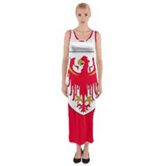 Flag of South Tyrol Fitted Maxi Dress