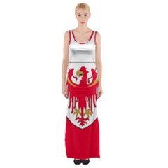 Flag of South Tyrol Maxi Thigh Split Dress