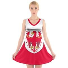 Flag of South Tyrol V-Neck Sleeveless Skater Dress