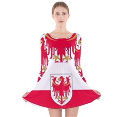 Flag of South Tyrol Long Sleeve Velvet Skater Dress