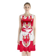 Flag of South Tyrol Sleeveless Chiffon Waist Tie Dress