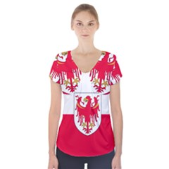 Flag of South Tyrol Short Sleeve Front Detail Top