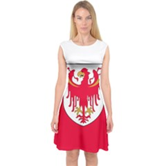 Flag of South Tyrol Capsleeve Midi Dress