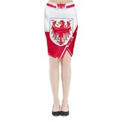Flag of South Tyrol Midi Wrap Pencil Skirt