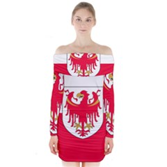 Flag of South Tyrol Long Sleeve Off Shoulder Dress
