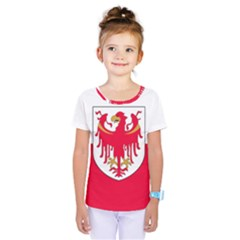 Flag of South Tyrol Kids  One Piece Tee