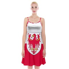 Flag of South Tyrol Spaghetti Strap Velvet Dress