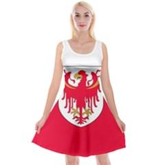 Flag of South Tyrol Reversible Velvet Sleeveless Dress