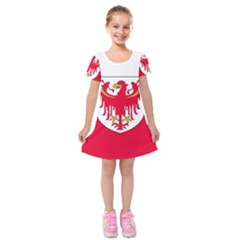 Flag of South Tyrol Kids  Short Sleeve Velvet Dress