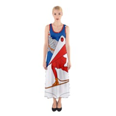 Lillehammer Coat of Arms  Sleeveless Maxi Dress