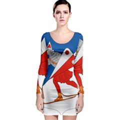 Lillehammer Coat of Arms  Long Sleeve Bodycon Dress