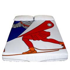 Lillehammer Coat of Arms  Fitted Sheet (Queen Size)