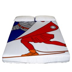 Lillehammer Coat of Arms  Fitted Sheet (King Size)