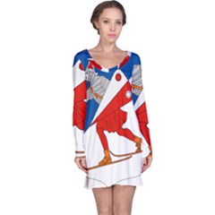 Lillehammer Coat of Arms  Long Sleeve Nightdress