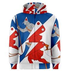 Lillehammer Coat of Arms  Men s Zipper Hoodie