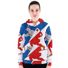 Lillehammer Coat of Arms  Women s Zipper Hoodie