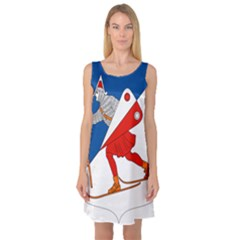 Lillehammer Coat of Arms  Sleeveless Satin Nightdress