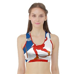 Lillehammer Coat of Arms  Sports Bra with Border