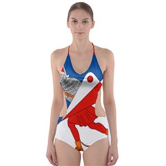 Lillehammer Coat of Arms  Cut-Out One Piece Swimsuit