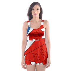 Lillehammer Coat of Arms  Skater Dress Swimsuit