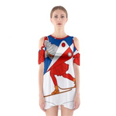 Lillehammer Coat of Arms  Shoulder Cutout One Piece