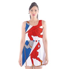 Lillehammer Coat of Arms  Scoop Neck Skater Dress