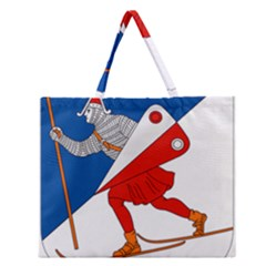 Lillehammer Coat of Arms  Zipper Large Tote Bag