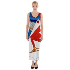 Lillehammer Coat of Arms  Fitted Maxi Dress