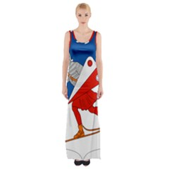 Lillehammer Coat of Arms  Maxi Thigh Split Dress