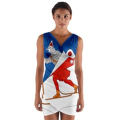 Lillehammer Coat of Arms  Wrap Front Bodycon Dress