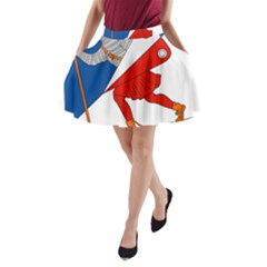 Lillehammer Coat of Arms  A-Line Pocket Skirt