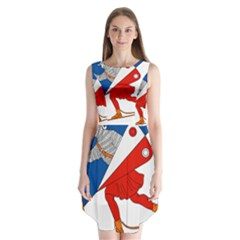 Lillehammer Coat of Arms  Sleeveless Chiffon Dress
