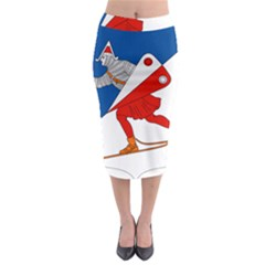 Lillehammer Coat of Arms  Midi Pencil Skirt