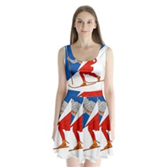 Lillehammer Coat of Arms  Split Back Mini Dress