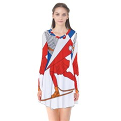 Lillehammer Coat of Arms  Flare Dress