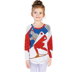 Lillehammer Coat of Arms  Kids  Long Sleeve Tee