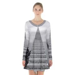 Steps To Success Follow Long Sleeve Velvet V Neck Dress