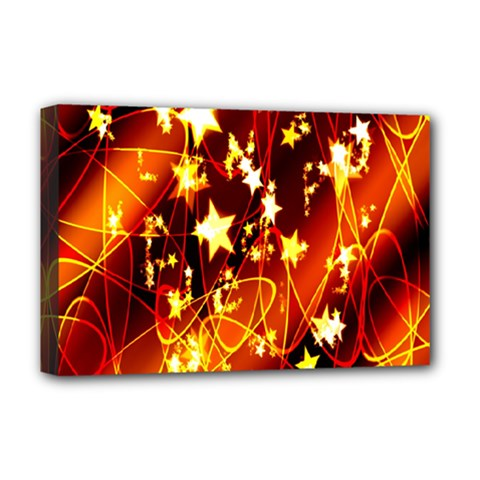 Background Pattern Lines Oval Deluxe Canvas 18  X 12