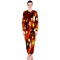 Background Pattern Lines Oval Onepiece Jumpsuit (ladies)