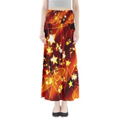 Background Pattern Lines Oval Maxi Skirts